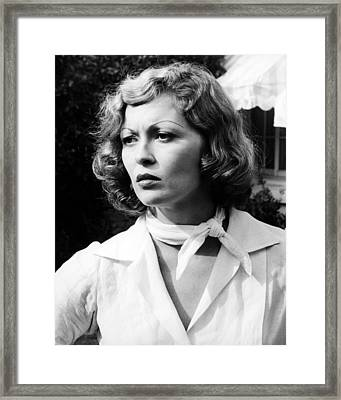 Faye Dunaway In Chinatown  Framed Print
