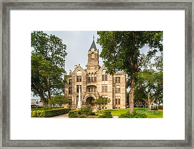Fayette County Courthouse - La Grange Texas Framed Print by Silvio Ligutti