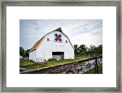 Fayette Farmers Daughter Quilt Barn Framed Print