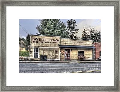 Fayette Feed Co Framed Print by Dan Friend