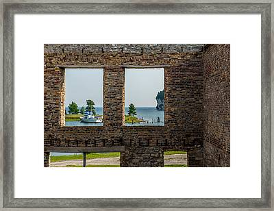Fayette Ruins Framed Print by Paul Freidlund