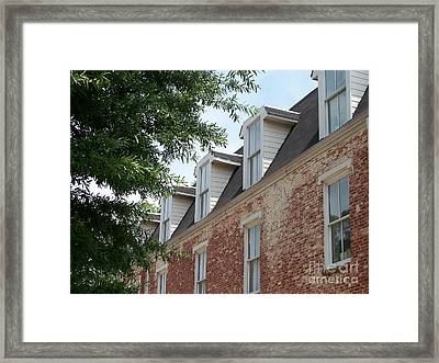Fayetteville Brick House Framed Print by Kevin Croitz