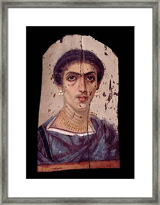 Fayum Mummy Portrait Framed Print by Petrie Museum Of Egyptian Archaeology, Ucl