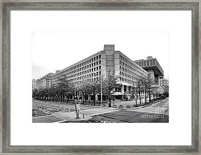 Fbi Building Front View Framed Print by Olivier Le Queinec