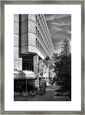 Fbi Building Modern Fortress Framed Print