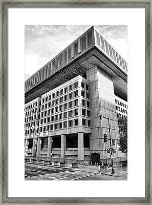 Fbi Building Rear View Framed Print