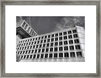 Fbi Building Side View Framed Print