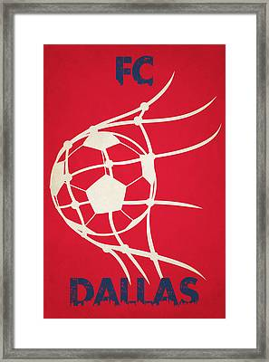 Fc Dallas Goal Framed Print by Joe Hamilton