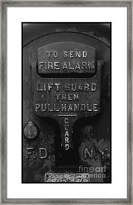 Fdny - Alarm Framed Print by James Aiken