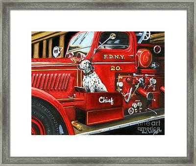 Fdny Chief Framed Print by Paul Walsh