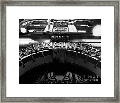 Fdny - Engine 55 Framed Print by James Aiken