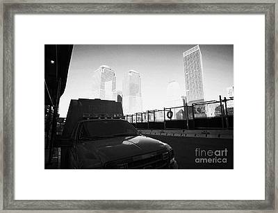 Fdny Fire Tender Parked Outside Rebuilt Reoccupied Engine 10 Ladder 10 Firehouse Liberty Street Framed Print