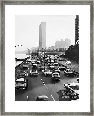 Fdr Drive, Nyc, 1961 Framed Print by Dick Hanley