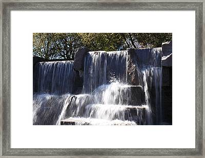 Fdr Memorial - Washington Dc - 01131 Framed Print