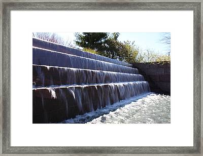 Fdr Memorial - Washington Dc - 01134 Framed Print