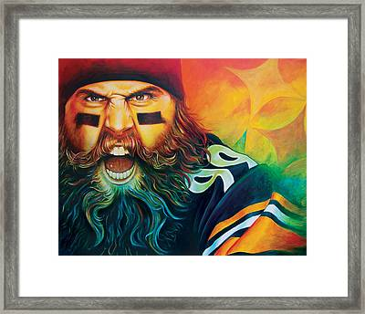 Fear Da Beard Framed Print
