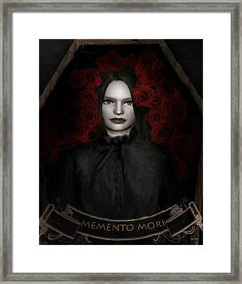Fear Not Death Framed Print by Lourry Legarde