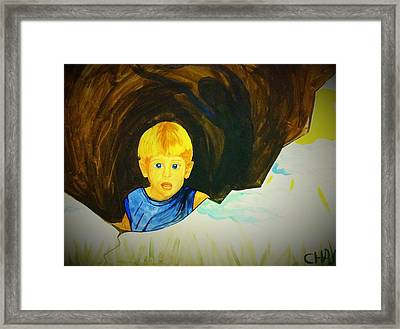 Fear Of The Boogey Man Framed Print by Alexandria Weaselwise Busen