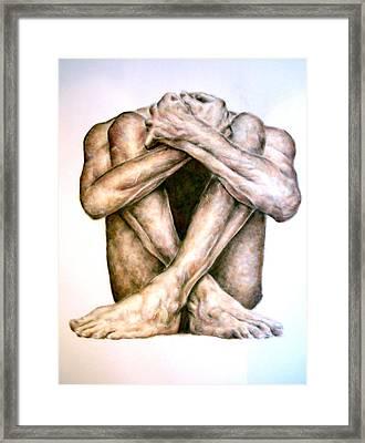 Fear Framed Print by Ole Hedeager Mejlvang