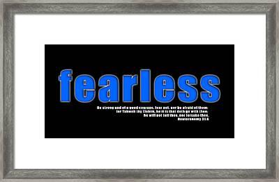 Fearless Framed Print by Corey Haynes