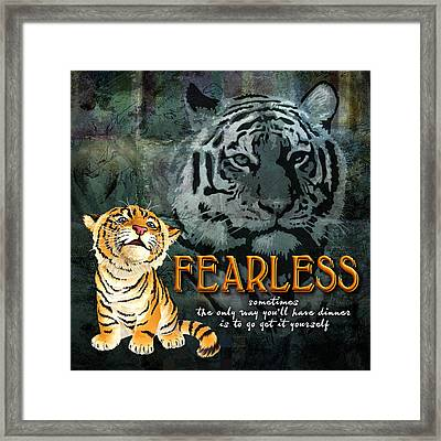 Fearless Framed Print by Evie Cook