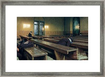 Feast Day At The Pio Albergo Trivulzio Framed Print