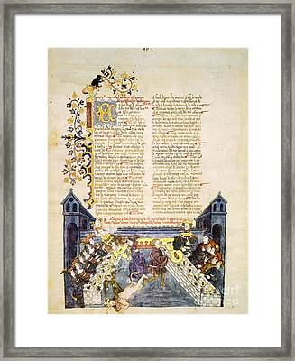 Feast From Book Of Esther, 1430 Artwork Framed Print by Patrick Landmann
