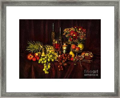 Feast Of Food Framed Print by Svetlana Sewell