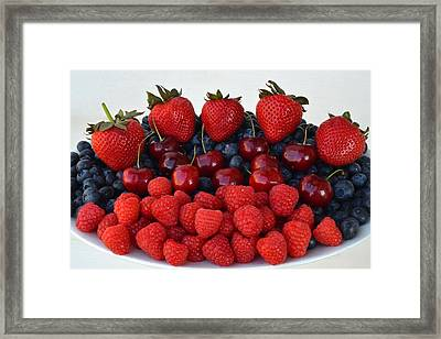 Feast Of Fruit Framed Print by Frozen in Time Fine Art Photography