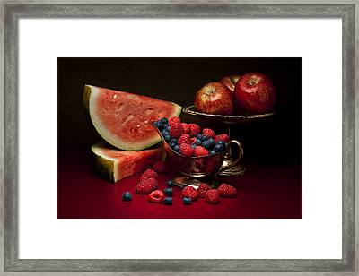 Feast Of Red Still Life Framed Print by Tom Mc Nemar