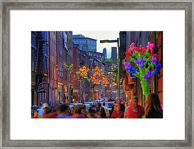 Feast Of Saint Anthony - Boston Framed Print