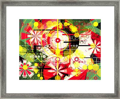 Feast Of Spring Red Flowers  Framed Print by Mikko Tyllinen