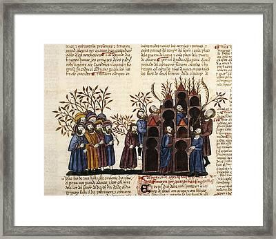 Feast Of Tabernacles, 1430 Artwork Framed Print