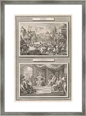 Feast Of Tabernacles And Solomon And The Queen Of Sheba Framed Print