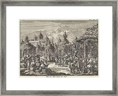 Feast Of Tabernacles, Jan Luyken, Pieter Mortier Framed Print