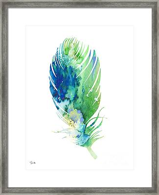 Feather 2 Framed Print by Watercolor Girl