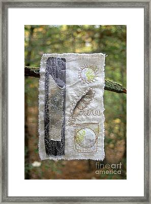 Feather In The Forest Framed Print by Linda Marcille
