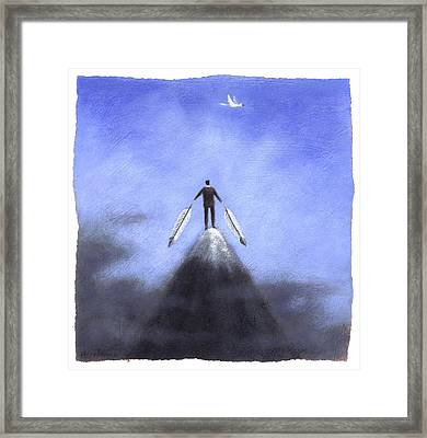 Feather Man Framed Print by Steve Dininno