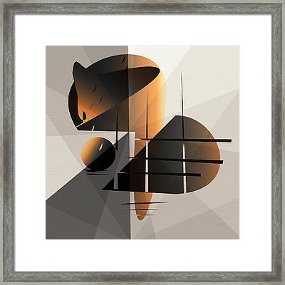 Feather Moon Framed Print