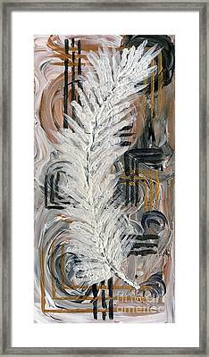 Feather Of Light Framed Print
