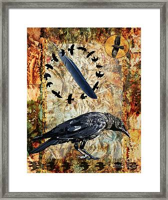 Feather Of Remembering Framed Print by Judy Wood