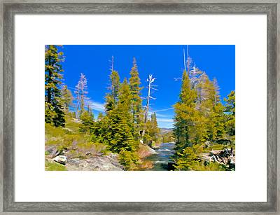 Feather River Framed Print