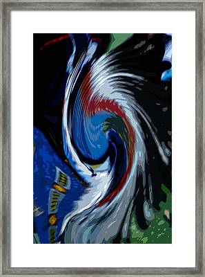 Feather Whirl Framed Print by Randy Pollard