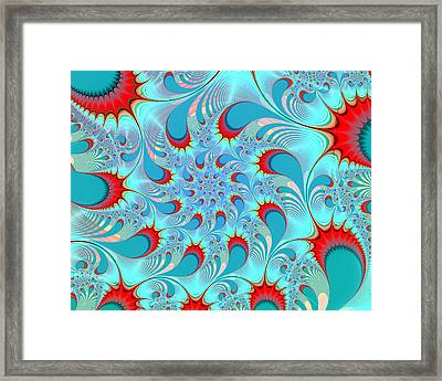 Feathered Coil Framed Print by Kevin Trow