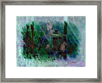 Feathered Friends Framed Print by EricaMaxine  Price