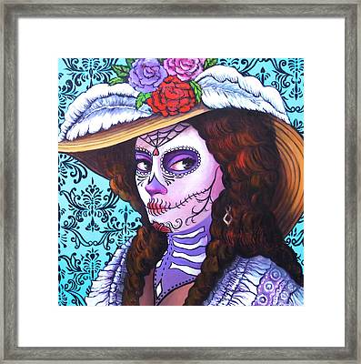 Feathered Hat Framed Print by Susan Santiago