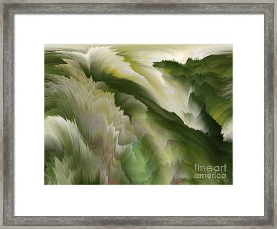 Feathered Hills And Valleys Framed Print by Patricia Kay