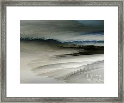 Feathered Seascape Framed Print by Patricia Kay