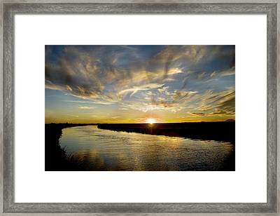 Feathered Sunset Framed Print