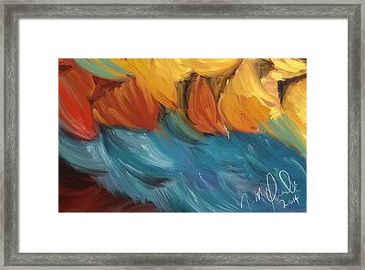 Feathers 5 Framed Print by Naomi McQuade